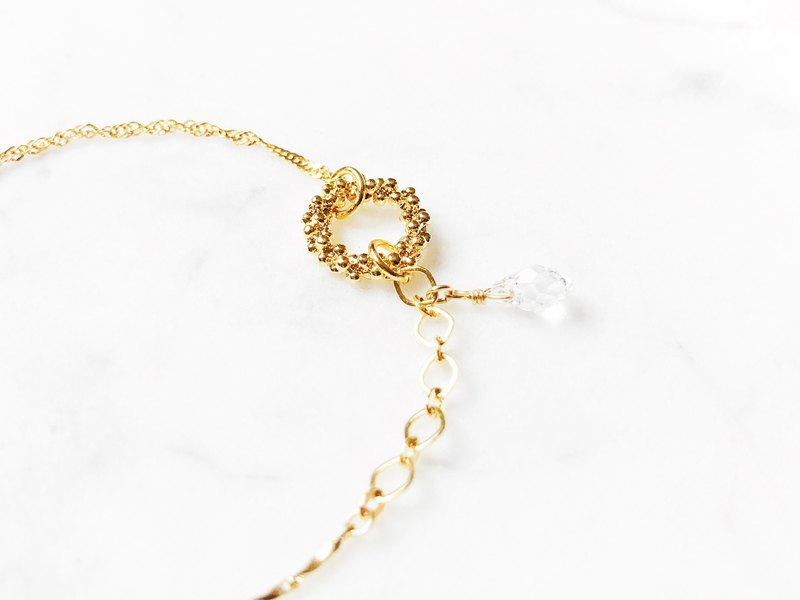 ::Golden Movement :: Dew Drop Wreath Trio Fine Bracelet