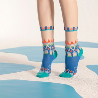 Lopi Sweater Azure Sheer Socks | transparent see-through socks | colorful socks