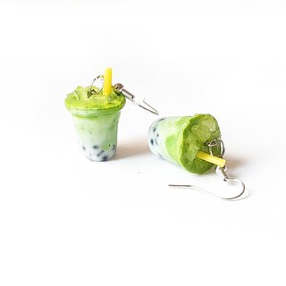 Green tea milk earring