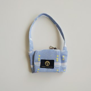 Beverage bag month palace print _ sea blue