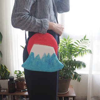 A Fuji mountain handbags diagonal package travel necessary special custom models cool summer models