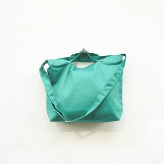 2 way canvas tote bag-Green No.4