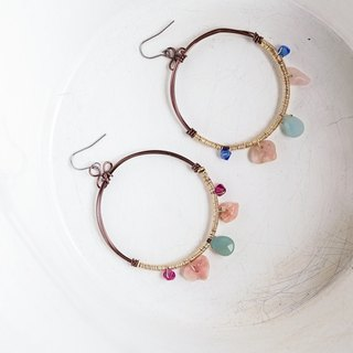 [Heart] you only ritual hand-made natural stone earrings (interchangeable clip-on)