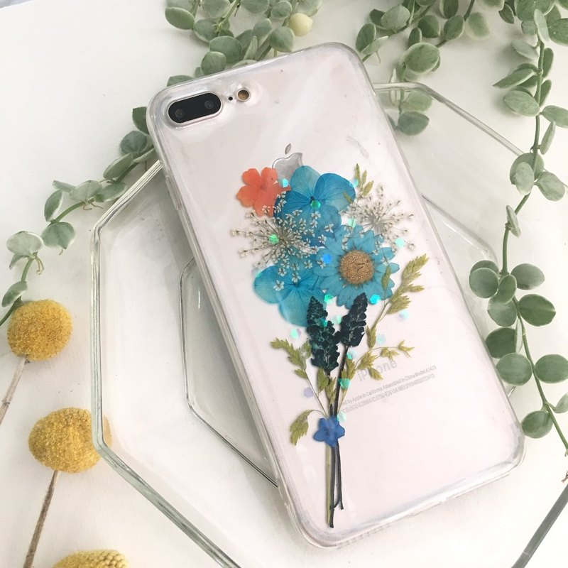 Thanks bouquet:: Real flower phone case