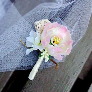Wedding Boutonniere Silk Wedding Boutonniere Groom buttonhole, Groomsmen B009