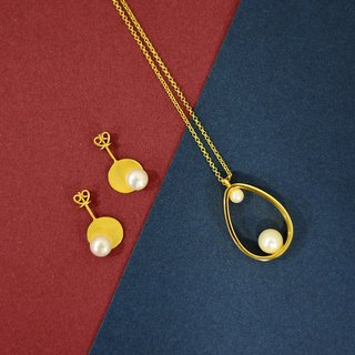 JIYI 霁 义 studio big egg sweater necklace silver gold-plated inlaid freshwater pearls