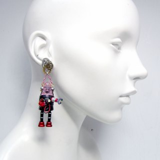 TIMBEE LO Handmade Explosive Robot Earrings Earrings STEAMPUNK Nostalgic Robot Only Available