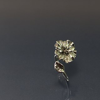 Hibiscus 925 silver ring opening