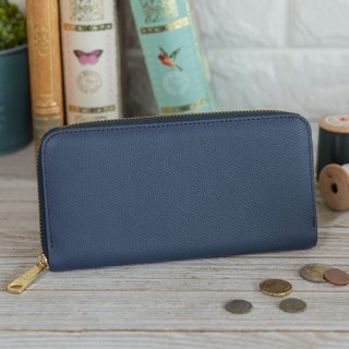 Japan manufactured cowhide ___ 包邮 青 blue Weinheimer made in JAPAN handmade leather wallet