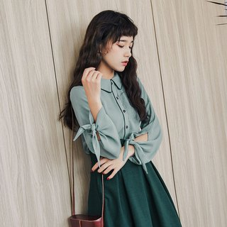Autumn women's 2018 new line with solid color age-old shirt tops