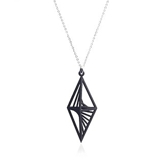 【String Art】3D Printing Triangular Rhombus Necklace