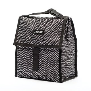 United States [PACKiT] ice cool multi-function freezer bag (black and white geometry) cold bag / breast milk bag