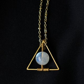 MYTH: trigonometry India 6A ice kind of Moonstone Necklace