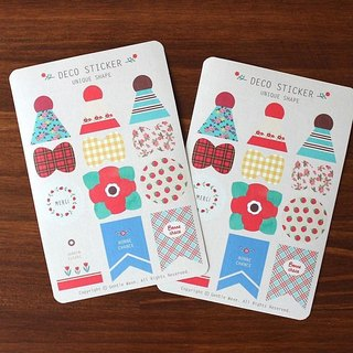 GentleWave - Flower Lifestyle decorative stickers group (2) - colorful modeling tag, GTW10353