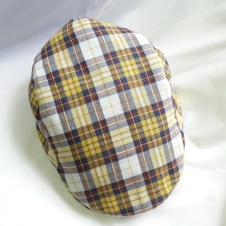 Yellow and blue weaving grain hunting cap (Flat Cap)