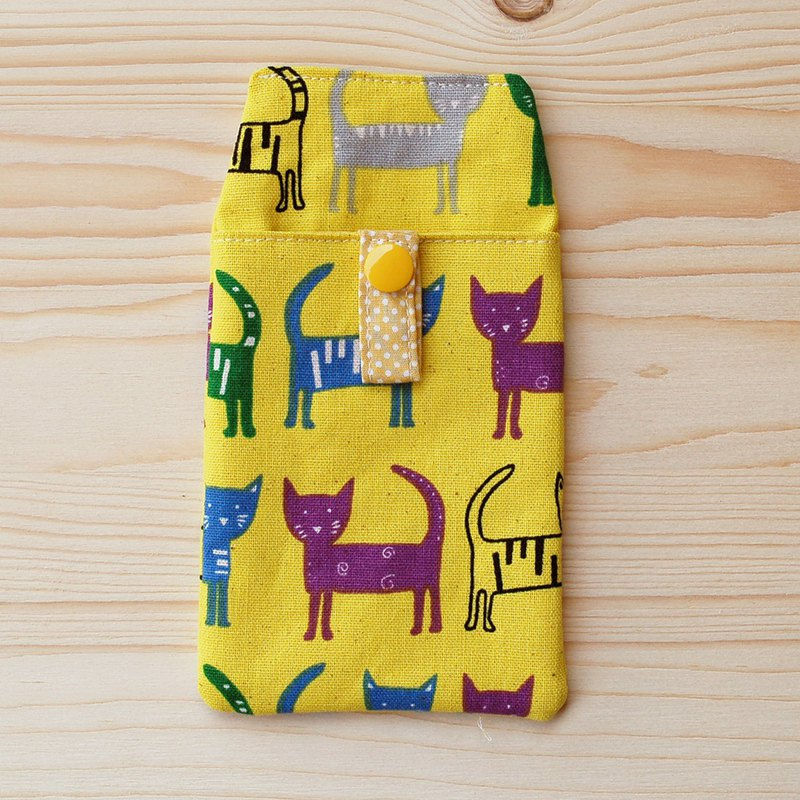 Colored cat pocket pencil _ yellow / with certificate bag