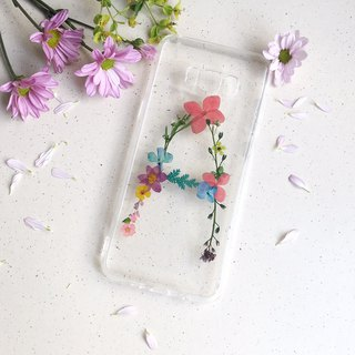 A for Amy dry flower English custom mobile phone case
