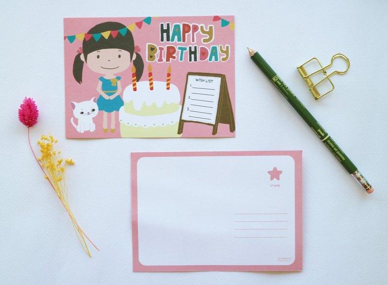Happy Birthday Wishing Postcard Card