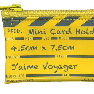 Director clap Mini card holder - Yellow