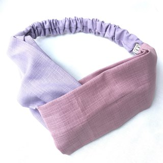 Purple/Pink Violet Contrast Cross Hair Band