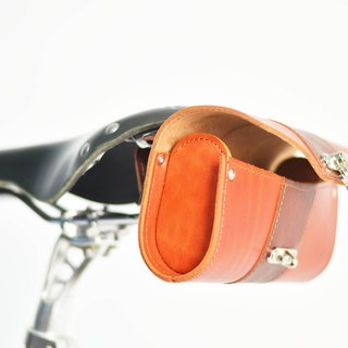 SE ic | handmade leather bicycle cushion package