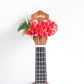 ribbon lei for ukulele,cp plumeria,ukulele accessories,ukulele strap,hawaiian