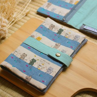 [fishing cat] passport holder/book cover