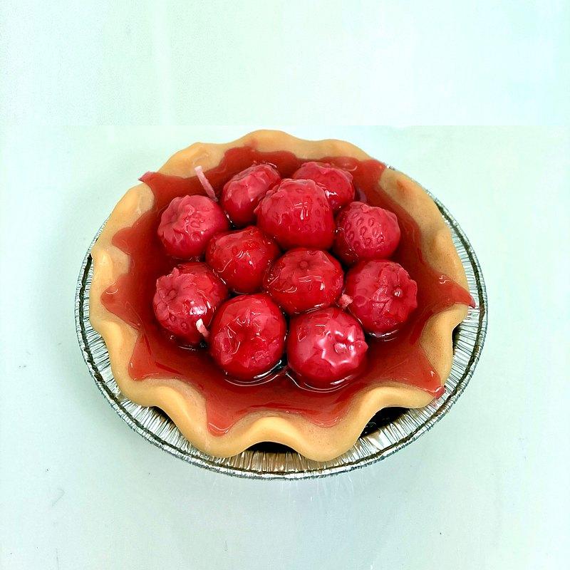 4.5吋 草莓派香氛蠟燭 果香蠟燭 香氛蠟燭 香氛禮贈 草莓派