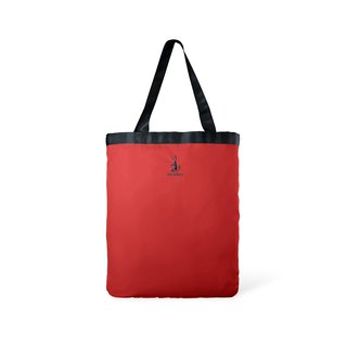 Toflip - Dark Blue Washed Canvas × Red Polyester - Double Sided Totebag