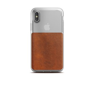 United States NOMADxHORWEEN iPhone X transparent back cover leather drop protection shell (855848007151)