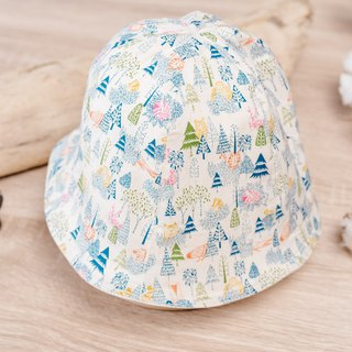 Double Sided Fisherman Hat - White Forest Baby Child Kid Dinosaur Hat