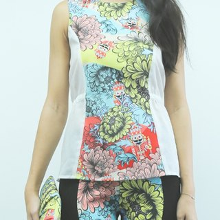Hong Kong designer Blind by JW corset vest (with flowers and little soldiers)