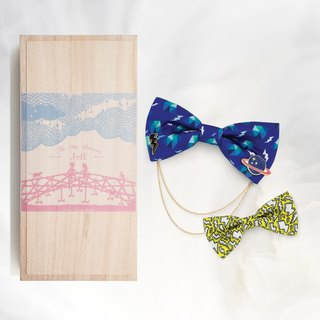 Novios Bowties Upgraded Combo Box Set - Box Cover with your Name