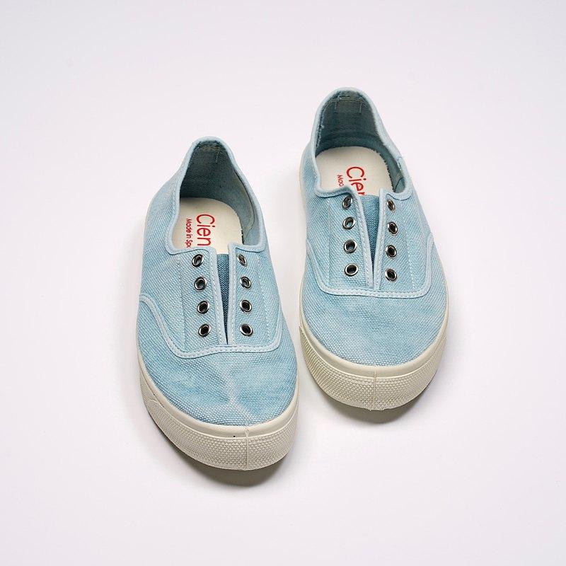 西班牙國民帆布鞋 CIENTA 10777 72 淡藍色 洗舊布料 大人