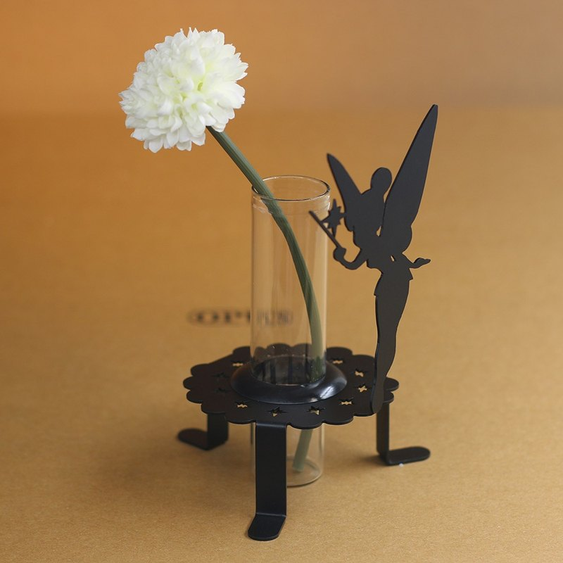 【OPUS Metalart】Light of Spirit - Mini Flower Fairy Inserts Holder (Black) / Home Office Shops / Wedding & Desktop Ornaments Arrangements / Small Vase / Bill Collection / Coffee Shop's Decoration / Birthday Gifts / Photo Shoo Props Properties KL-ca0