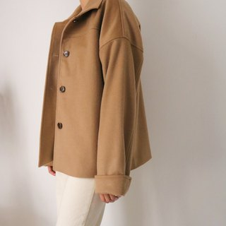 Masae Coat straight-breasted Kashmir wool short coat multicolor