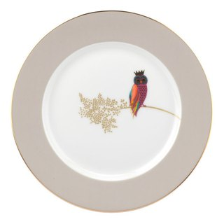Sara Miller London for Portmeirion Piccadilly Collection Cake Plate - Owl
