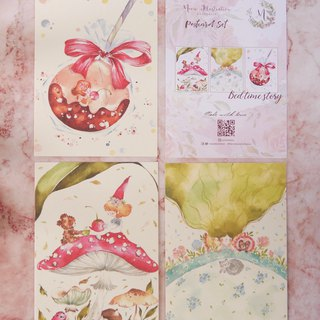 Bedtime story postcard group