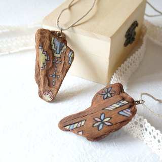 Wooden hand-painted necklace -*Gui honey combination of concessions*1 + 1 (the whole museum similar necklace optional two)