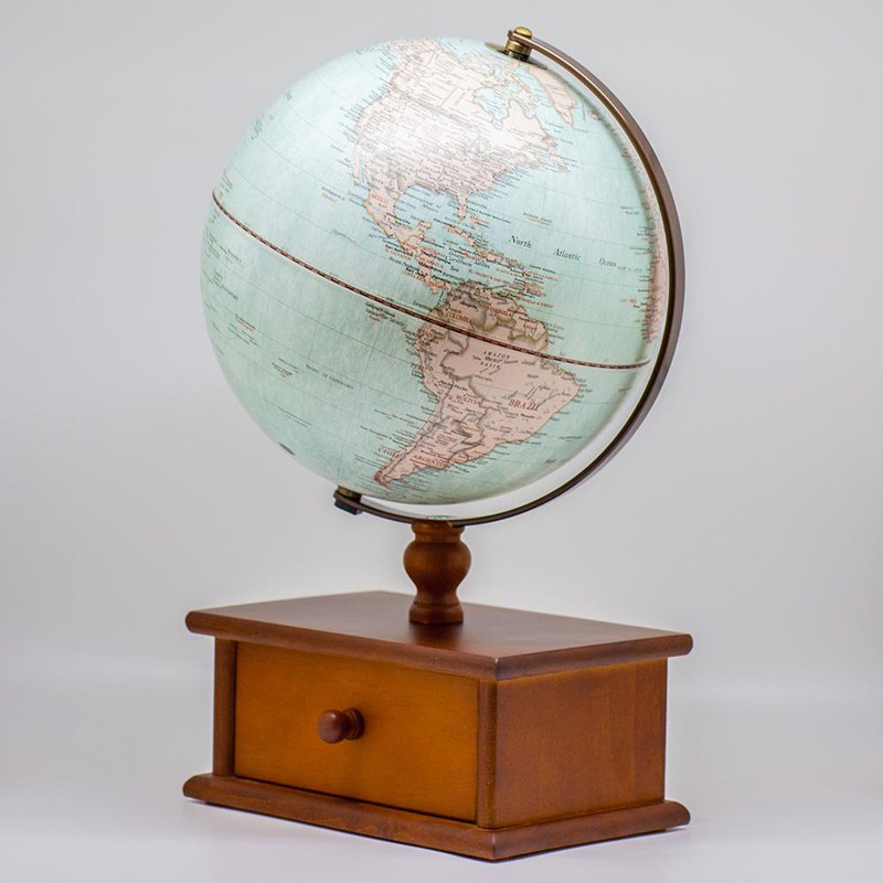 SkyGlobe 10-inch New Antique Drawer Globe (with lamp)