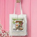 Tee-Saurus Happy Totes - Singapore Biscuit Gem Cotton Tote Bag