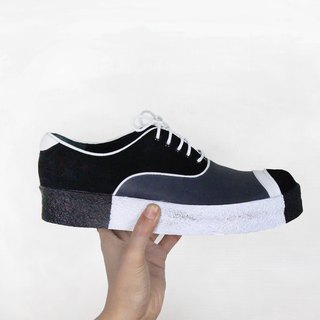 Killer M1153A Black White leather sneakers