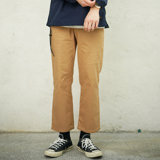 Wide version of nine pants Wide Chino Pants / plain / simple / couples clothing