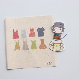 Or less an illustration of embroidery material package