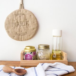 Marie Biscuit Linen Trivet cum Pot Holder