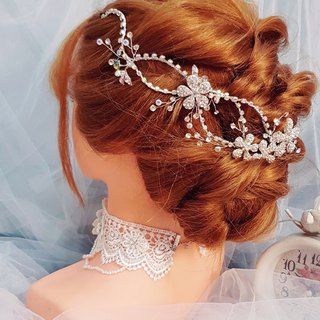 Shiny colorful bridal tiara ornament