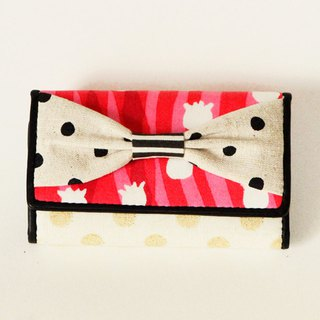 key holder wallet pink flower stripes ribbon Assistant Director dots borders