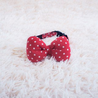 Can be customized. Red bottom point bow collar with the same color drawstring