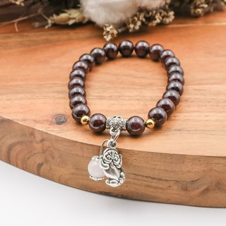 Guardian Heart | Red Garnet Powder Crystal Strings Natural Stone Bracelet