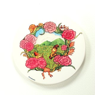 Send a flower / smile to feed Smilehello Illustrator log ceramic absorbent coasters